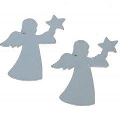 Setje houten engeltjes 5cm