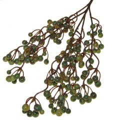 Tak met bessen olijfgroen en goud, 64cm