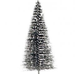 Winterse kerstboom met poedersneeuw, 15cm