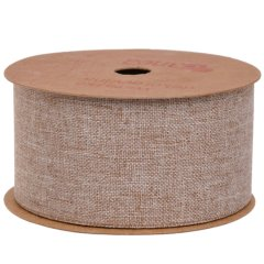 Soepel jute lint, prijs per meter, 4cm