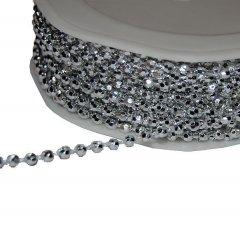 Zilveren koord nobilis met bolletjes of met sterretjes, 3mm