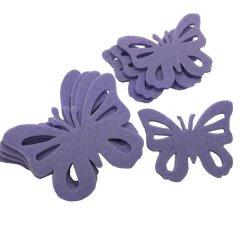 Setje vilten lila vlinders, 9,5cm