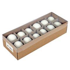 Witte uitgeblazen eieren. 12 stuks