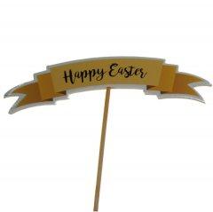 Laatste stuks; Happy easter banner, 15cm