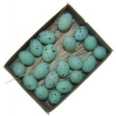 Doosje mini mintkleurige plastic eitjes, 20 stuks