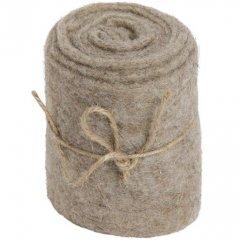 PRE-ORDER** week 5 leverbaar; Taupe polyester band, 10x200cm