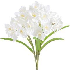 Narcissenboeket wit, 40cm