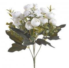 Bundel witte kunstbloemen ranonkelmix, 28cm