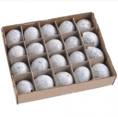 Kwarteleitjes wit-grijs-lichtblauw, 24 stuks