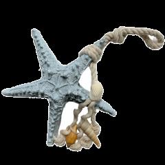 20% korting! LAATSTE STUKS! Stenen zeester hanger, 8cm