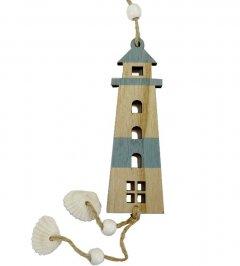 Vuurtoren hanger met schelpen. 30cm