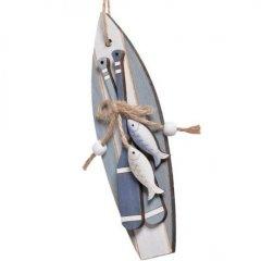 Houten surfbordje met peddels 18cm
