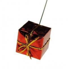 Rood glans Kadootje, 2.5x2.5cm