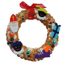 PAKKET, Sinterklaaskrans met BOOTJE, Ø30cm