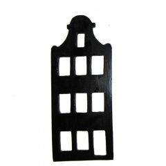 Houten hangers, Amsterdamse klokgevel met dwarsbalk, 20,5cm (komt in oktober weer op voorraad)