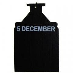 Krijtbordje, 5 december, 18cm