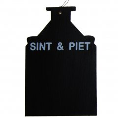 PAKKET; Krijtbordje, Sint & Piet, 18cm