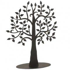 Metalen zwarte boom op voet, H40cm