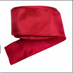 Rood lint , satijn met ijzerdraad in de rand, 3 meter,40mm
