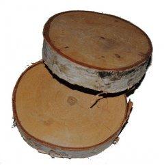 Houten berkenschijf, 3 stuks, 9cm
