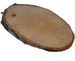 Houten schijf, Wood slice, LANGWERPIG, 30cm