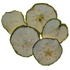 Gedroogde groene appelschijfjes, 5 stuks