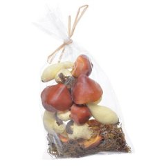 Setje paddenstoeltjes met mos, 8 stuks