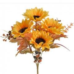 Bundel zonnebloemen en besjes, 30cm