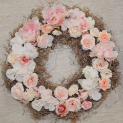 Zalmkleurige bloemenmix zonder tillandsia