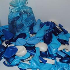 Blauw met witte ballonnenmix