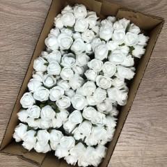 Foam rose 2cm white set 144 stuks