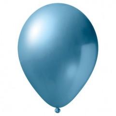 Ballonnen metallic lichtblauw 10 stuks