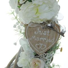 Huwelijkskrans met kunstbloemen 40cm