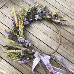 WEER OP VOORRAAD! Pakket; Bohemian krans van droogbloemen, 30cm