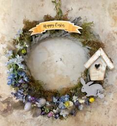 Happy Easter, voorjaarskrans, 30cm