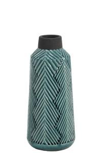 Vaas ACASI keramiek donker groen & grijs, 33cm
