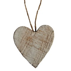 houten hartje, 7 cm