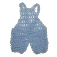Gehaakte blauwe tuinbroek, 7,5cm