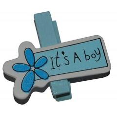 it's a boy knijpertje, 5 stuks