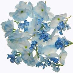 Lichtblauwe bloemetjes mix