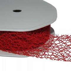 Rood lint, open structuur, 3cm