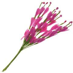 Bundel van roze bloemetjes en besjes, 10 stuks, 20cm