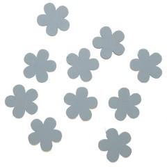Houten bloemetjes wit, 1,8cm