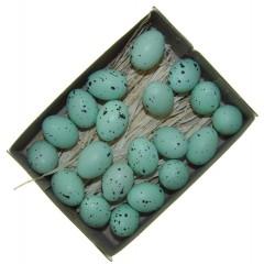 Doosje mini mintkleurige eitjes, 20 stuks