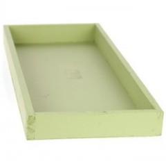 tray eden lichtgroen rechthoekig L60 x D20x H3 cm