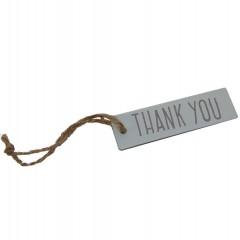 """Weer op voorraad! Label 'Thank you"""", 7cm"""
