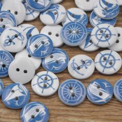 Knoopjes, maritiem blauw, 10 stuks