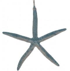 Blauwe zeester van steen, 21.5cm