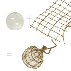 Glazen drijver + net = drijver, 5.5cm