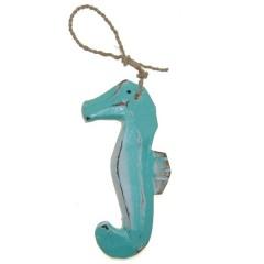 Mini zeepaardje turquoise , 9cm